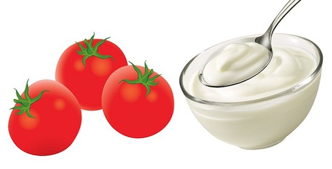 Tomato and Curd Face Pack